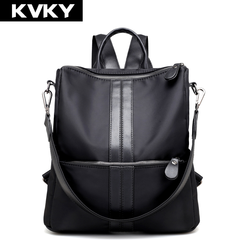 KVKY Brand Women Backpacks Student School Shoulder Bags Nylon Waterproof Laptop Backpacks Female Casual Travel Bags for Teenage new gravity falls backpack casual backpacks teenagers school bag men women s student school bags travel shoulder bag laptop bags
