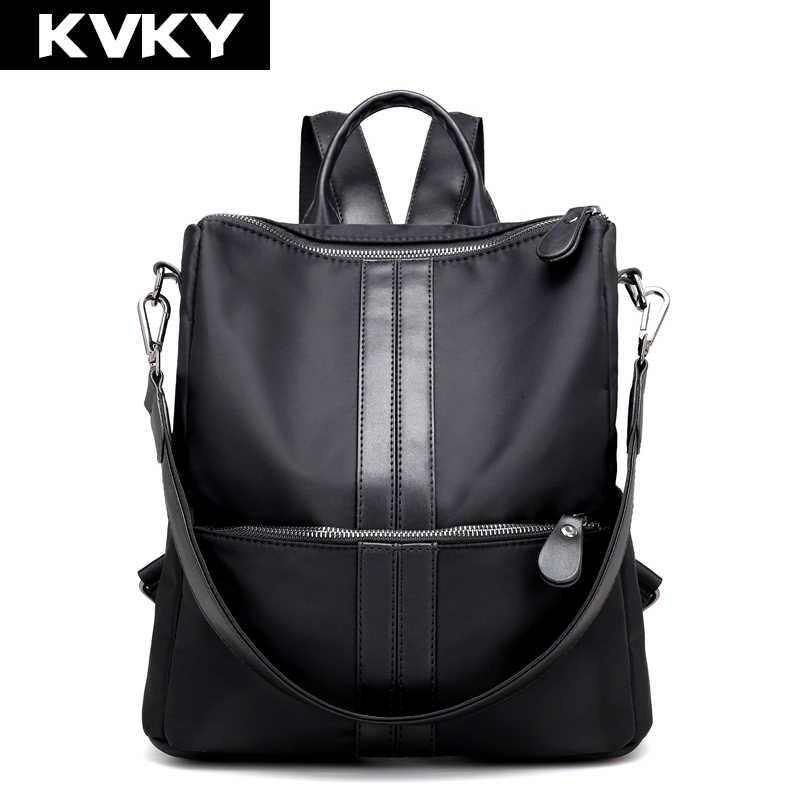 4e881045e812 KVKY Брендовые женские рюкзаки школьные сумки на плечо нейлоновые  непромокаемые рюкзаки для ноутбука Женские повседневные дорожные