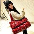 A nova moda Coreano para baixo pacote de saco das mulheres portátil ombro pacote pacote espaço Mianao