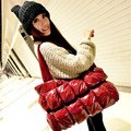 The new Korean fashion down package women 's portable shoulder bag Mianao package space package