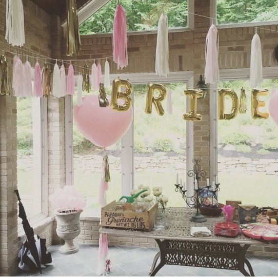chicinlife bride to be bride letter balloon swedding hen party bachelorette party
