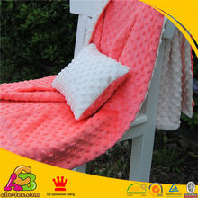 2016 hot selling Coral and White Minky DOT Baby Blanket and Baby Pilow For Baby Girl Baby Bed Setting Free Shipping