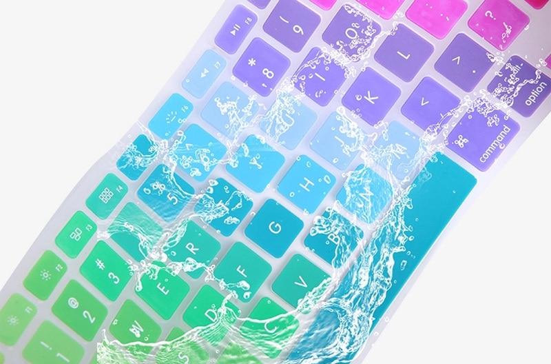 Tęczowa silikonowa obudowa klawiatury do Apple Macbook Air 13 - Akcesoria do laptopów - Zdjęcie 6