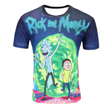 New2018 Fashion Rick And Morty T-shirt men Harajuku Tee Shirt Printed 3d Cartoon T- Shirt Camisetas Funny T-shirt wholesale