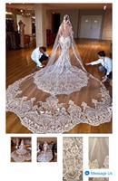 2019 New Eyelash Lace 1.5M/3M Long High end Bridal Veil White/Ivory Wedding Veil Mantilla Wedding Accessories Veu De Noiva EE006