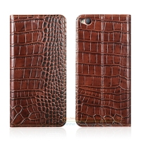 Crocodile Grain Genuine Leather Case For ZTE Nubia M2 Lite 5 5 Luxury Phone Cover Invisible
