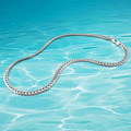 new fashion men's sterling silver link chain long necklace,men's 925 sterling silver jewelry, genuine solid silver necklace men