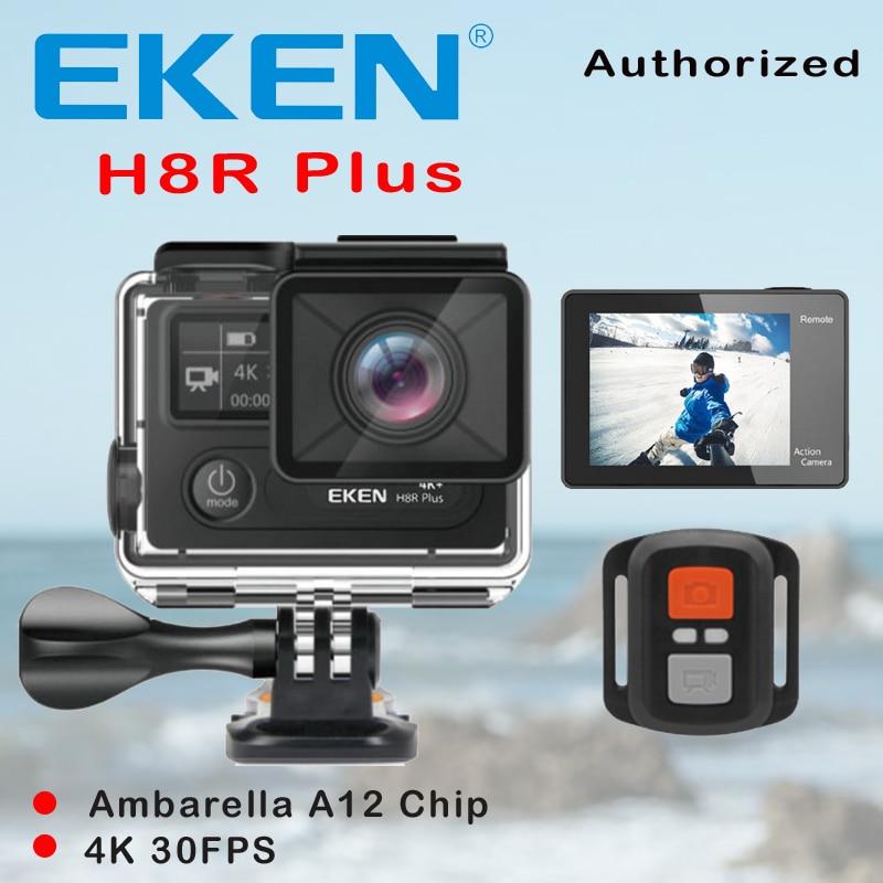 Original EKEN H8R PLUS Ultra HD 4K WiFi Action Cam With Ambarella A12 Chip 2.0 screen 30M waterproof Underwater sport mini cam eken h8 h8r ultra hd 4k 30fps wifi action camera 30m waterproof 12mp 1080p 60fps dvr underwater go helmet extreme pro sport cam