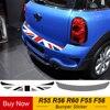 Flaga Union Jack tylny zderzak samochodowy naklejka dekoracyjna bagażnika obciążenia ochrona krawędzi naklejka dla Mini Cooper R55 R56 R60 F55 F56 samochód stylizacji