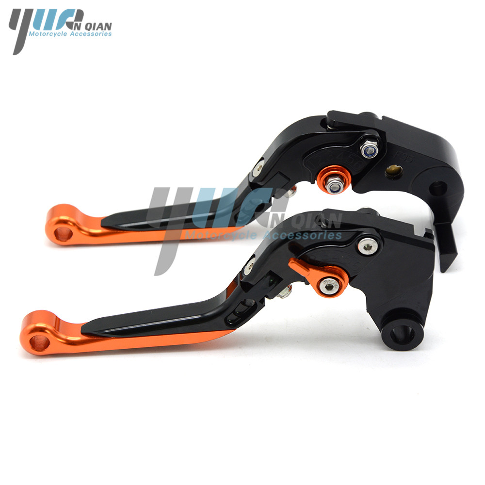 Motorbike CNC Aluminum Folding Extendable Brake Clutch Lever For KTM 390 Duke RC390 2013 2016 2017 200 Duke/RC200 2014 2015-in Levers, Ropes & Cables from Automobiles & Motorcycles