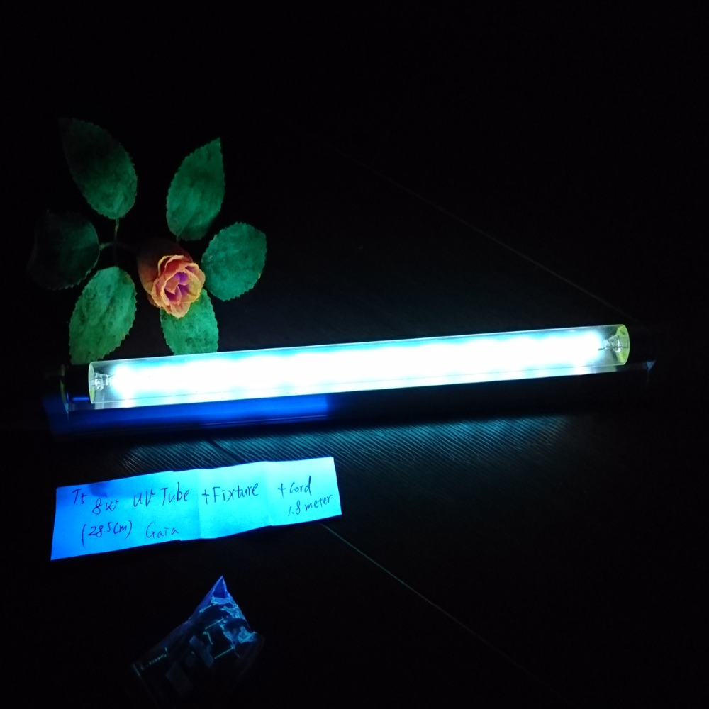 Compact Quartz UV Germicidal Lamp Kit Kill Bacterial Virus Mites Mold Deodorant Clean Sanitizer 4W 6W 8W 15w Ozone 110v 220v