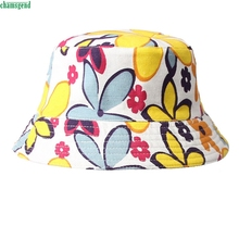 HOT Brand 2017 New Fashion Floral Sun Hat Bucket Funny Summer Holiday Novelty Beach Cap
