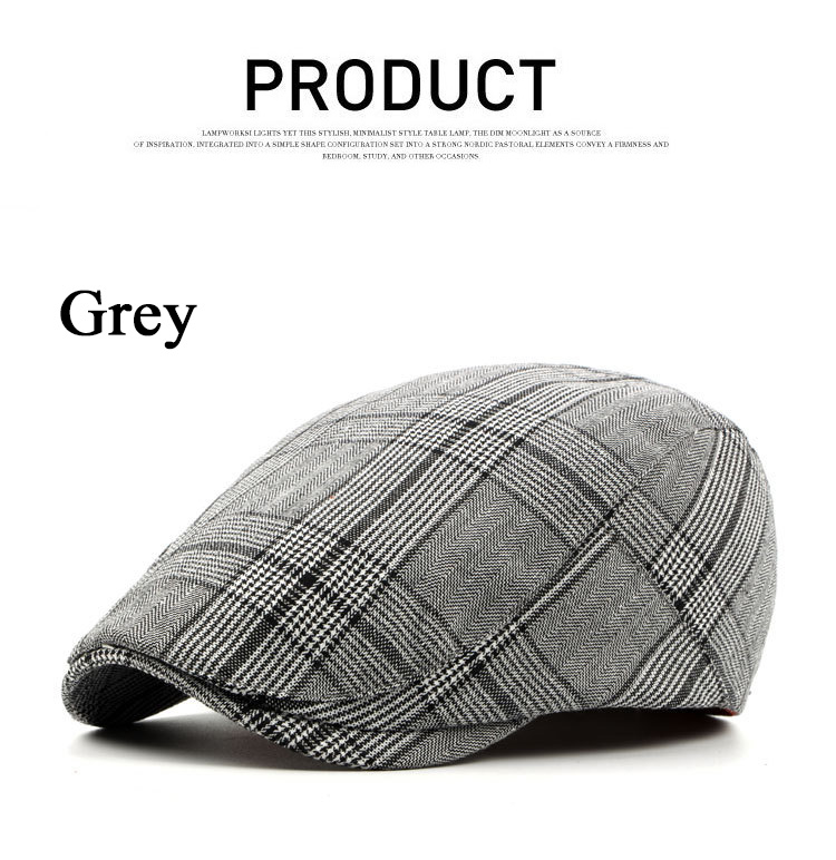 97712d63 Brand Fashion British Style Summer Sun Hats for Men Women High Quality  Casual Cotton Women Beret Caps Adjustable Plaid Flat Cap Size  Reference:55-59cm