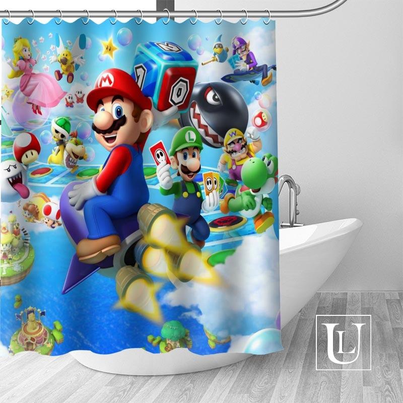 New Arrival Modern Custom Super Mario Fabric 100 Polyester Shower Curtain High Quality Washable Bath Decor Waterproof Popular