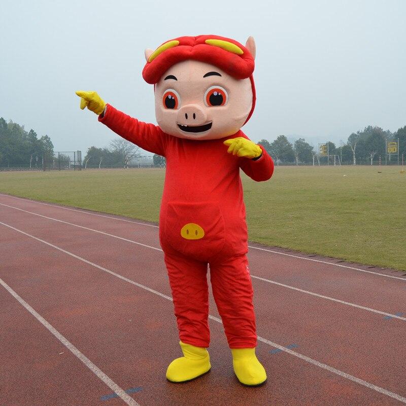 Zélé couleur crème Ggbond GG Bond Pigman cochon homme cochon porc cochon poreton Mascotte Costume dessin animé personnage Mascotte