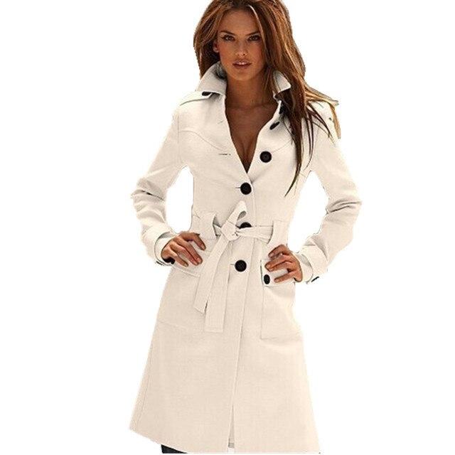 9b6efc4879be € 38.06 22% de DESCUENTO|Aliexpress.com: Comprar Moda Otoño Invierno Mujer  abrigo Abrigos Mujer ropa de marca elegante lana blanca Mujer Sobretudo ...