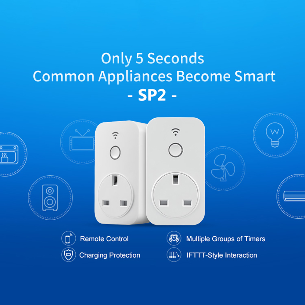 Original Broadlink Sp2 Uk Wifi Socket Plug 24g Wireless Multiple Electrical Receptacles On The Same Circuit Are Connected In Connection 13a Outlet App Smart Control For Home Remote From