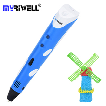 Myriwell 3D Pen 1ST Generation Magic Pens 1.75mm PLA Filament Kids Diy 3d  Drawing Printing Christmas 3 d Stylo