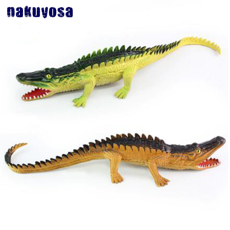 Soft Plastic Rhinos Crocodile Simulation Sound Animal Model Action Toy Science Educational Toys Figures Gifts for Children
