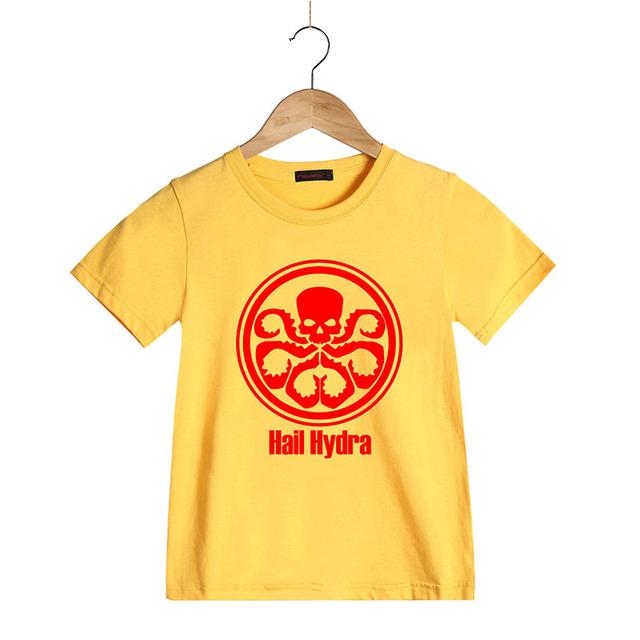 Nouvelle Mode La Grêle Hydra T Chemises pour Enfants Coton O cou Crâne Garçons Girsl D'été T-shirt À Manches Courtes Enfants Marque Vêtements