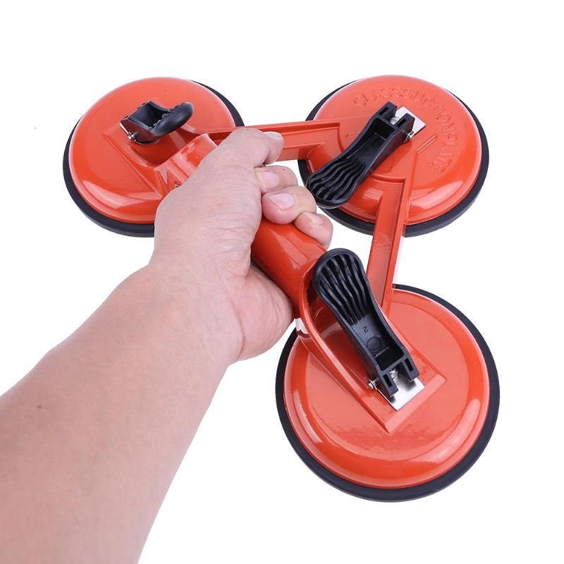 Aluminum Alloy Glass Suction Cup Dent Remover Sucker Three Claw Tile Floors Pick-up Sucker Level Vertical Suction Tool