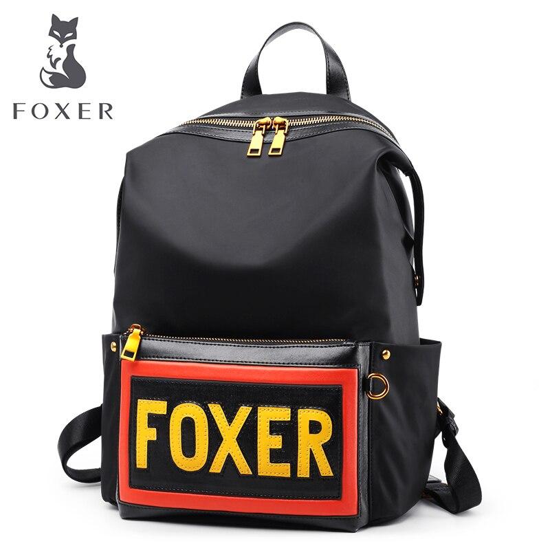 FOXER Women kanken Backpack Nylon Shoulder Bag for Female School Bag Fashion Simple Travel Bag High Quality Large Capacity Bag