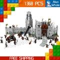 1368 unids de El Señor de los Anillos La Batalla del Abismo de Helm 16013 hacha modelo kit de construcción de juguetes de bloques de ladrillos compatible con lego