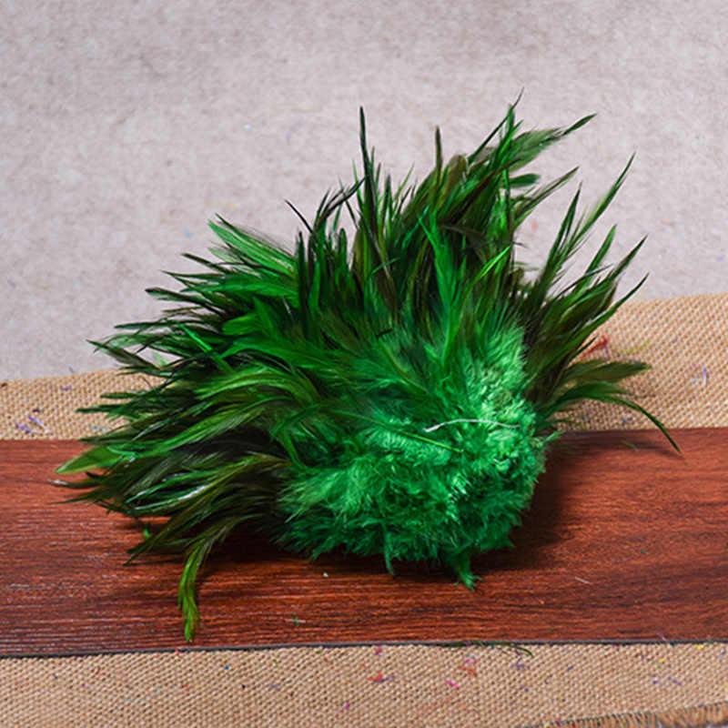 100 pcs Gà Lông kết hợp màu sắc lông Đẹp lông cho Nghề Thủ Công May Trang Phục Vật Làm Và Bán TỰ LÀM Bán Lẻ khoảng 8-15 cm Chùm