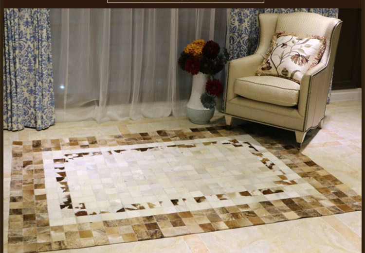 Fashionable art carpet 100% natural genuine cowhide leather commercial carpet tilesFashionable art carpet 100% natural genuine cowhide leather commercial carpet tiles