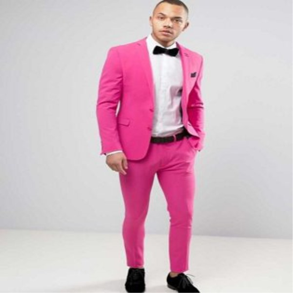 TPSAADE High quality custom men's pink wedding suit for 2 Pieces Mens Suit sets of groom tuxedo custom style dance costume coat