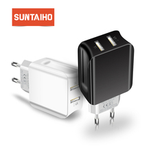 Suntaiho USB Charger Dual USB Port Charger Travel Wall Charger Adapter Smart Mobile Phone Charger for Xiaomi USPlug Fast Charger