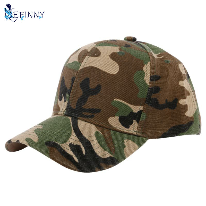Men And Women Camouflage Half Mesh Army Hat Baseball Cap Desert Jungle Snap Camo Cap Hats Hot