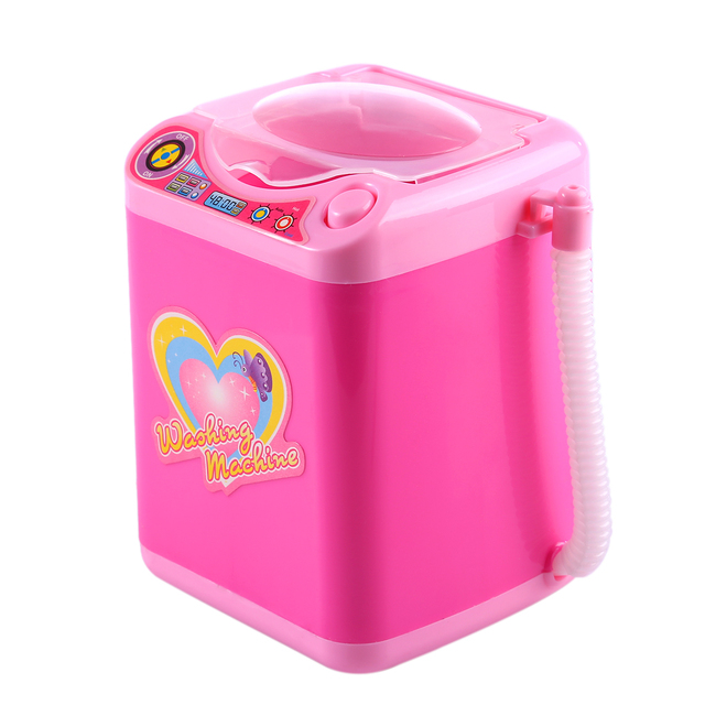 Educational Toy Mini Electric Washing Machine Children Pretend & Play Baby Kids Home Appliances Toy - Pink