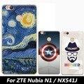 "Para zte nubia n1 nx541j case, joe marca 3d dos desenhos animados completa capa dura pintura shell back cover case for zte nubia nx541j n1 5.5"""