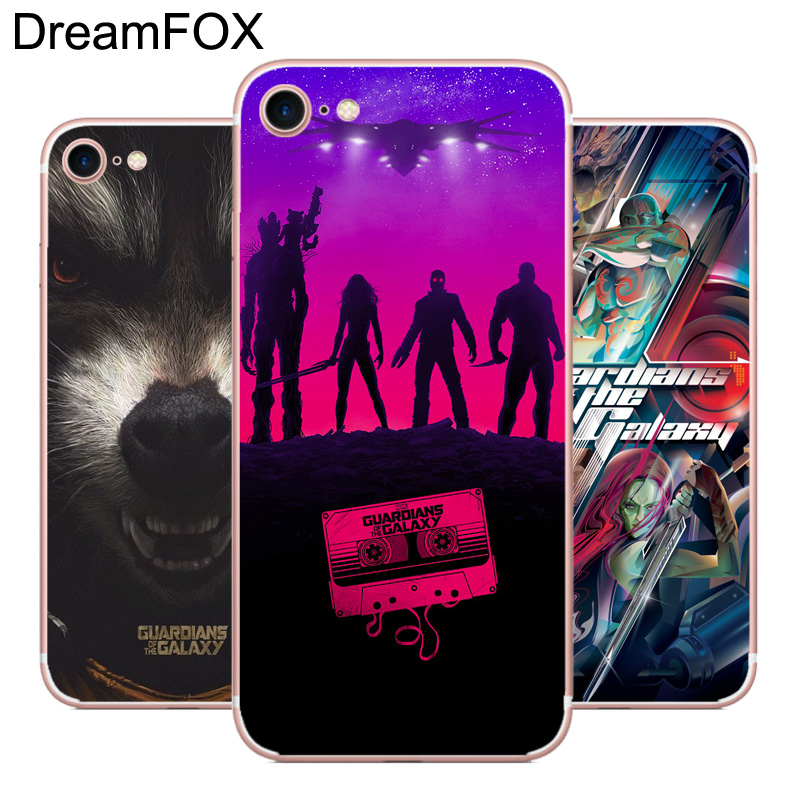 DREAMFOX L532 Guardians Soft TPU Silicone Case Cover For Apple iPhone 8 X 7 6 6S Plus 5 5S SE 5C 4 4S