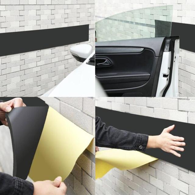EAFC Car Door Bumper Bodywork Guard Anti Scratch Self Adhesive Parking Protector Garage Wall Corner Foam Sticker 200*20cm