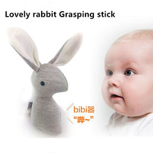super cheap rattle but HIgh quality Mamas Papas Cute baby rattle infant BB toys rattle Lovely baby Stuffed rabbit hand grip toy