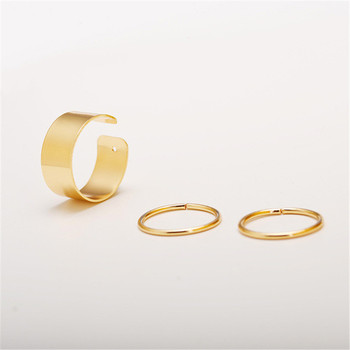 Women's Minimalistic Phalanx Rings 3 pcs Set Jewelry Rings Women Jewelry Main Stone Color: orange