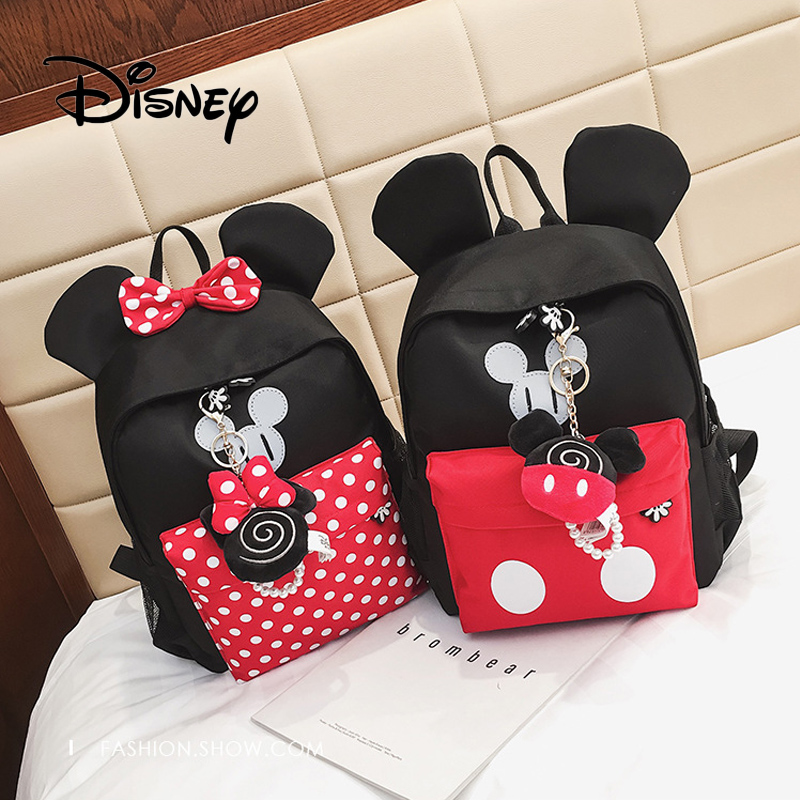 2019 Disney New Children Girls School Bag Mickey Mouse Backpack Cute Kids  Boy Girl Backpacks Cartoon Kindergarten Bags Plush Bag 057265703cf91
