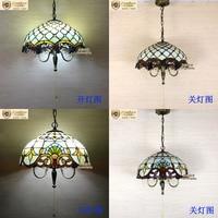 European style Beaded dinner chandelier single head zipper switch dining room bedroom bar chandelier personalized creatiDF34