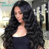 Deep&Long Parting Body Wave Full Lace Human Hair Wigs Malaysian Remy Hair 150% Density Baby Hair Lace Wigs For Black Women