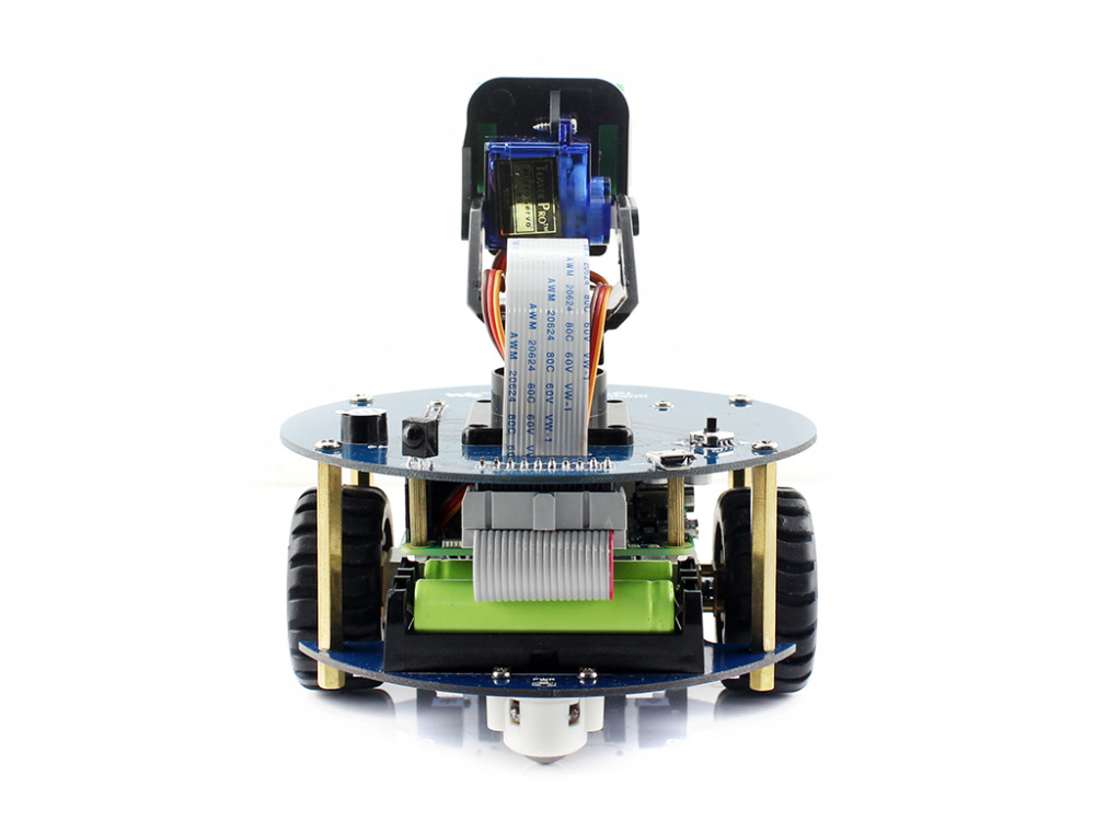Image 2 - Raspberry Pi 3 Model B Smart Car Accessory Pack AlphaBot2 Robot Building Kit with Camera 16GB Micro SD Card IR Remote Controller-in Demo Board from Computer & Office