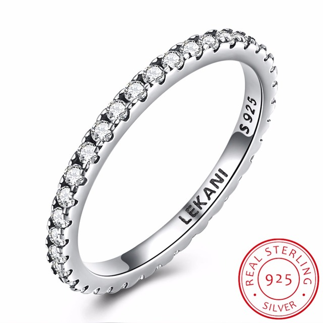 Thin Match Wedding Band Stacking Ring For Women Micro Pave AAA Cubic ...
