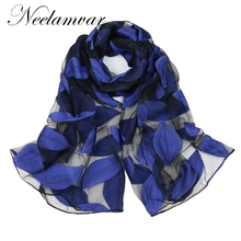 Neelamvar new 2017 brand scarf women's long shawl autumn and winter echarpe high-quality organza lady elegant hijab wraps(China)