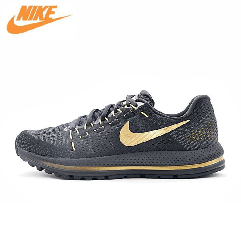 NIKE AIR ZOOM VOMERO V12 Men's Breathable Running Shoes Sports Sneakers Trainers 863762-008 2017brand sport mesh men running shoes athletic sneakers air breath increased within zapatillas deportivas trainers couple shoes