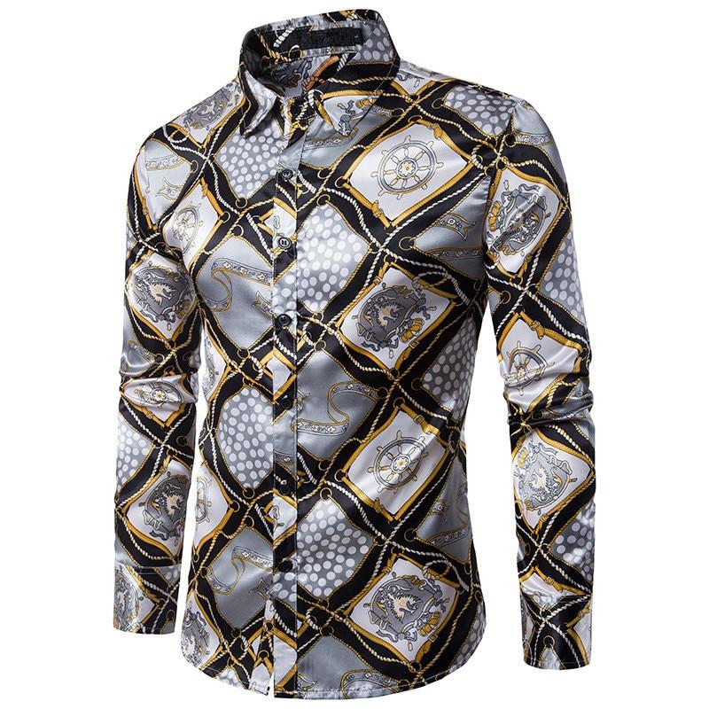 Μόδα Slim Fit αρσενικό τυχαίο πουκάμισα - Ανδρικός ρουχισμός - Φωτογραφία 2