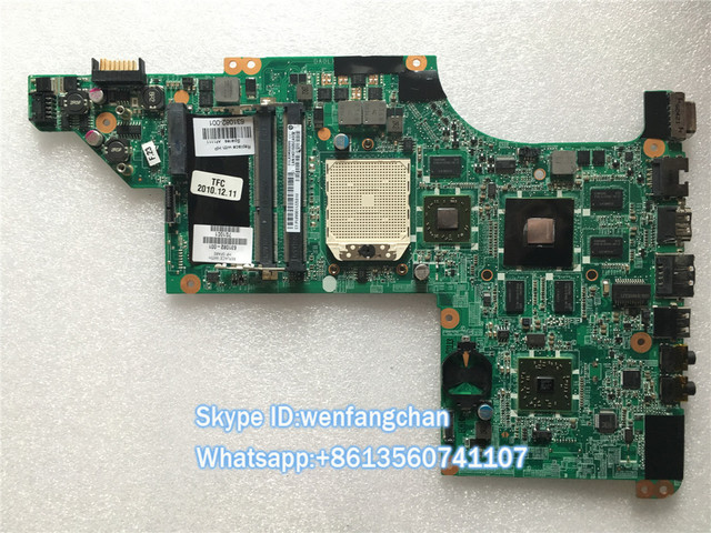 Free shipping Motherboard for HP DV6-3000 Series motherboard 631082-001 DA0LX8MB6D0 Socket S1 DDR3 HD6550 1GB Fully test