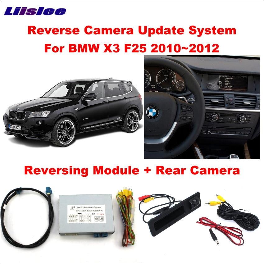 Liislee Original Screen Update System For BMW X3 F25 2010 2012 CIC System Reversing Module Rear