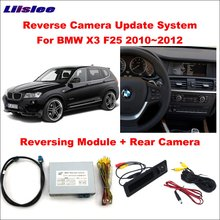 Liislee Original Screen Update System For BMW X3 F25 2010~2012 CIC Reversing Module + Rear Camera / Decode Track Box