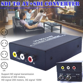 3G SDI to 3-RCA AV Scaler Converter Adapter SD-SDI HD-SDI 3G-SDI 2.97Gbps DJA99